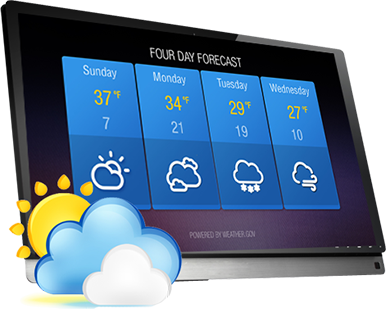 Keep upto date with the weather on your digital sign