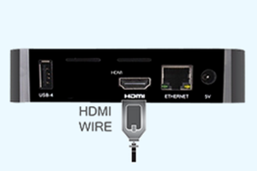 Connect the HDMI to your digital signage player and get started instantly