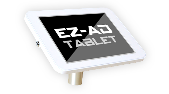 Mount EZ-AD Tablet on any shelving using 4 screws